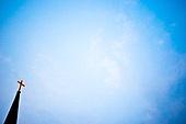 십자가,부활절,고난주간,사순절,교회,예배당,첨탑,하늘,구름,네온사인