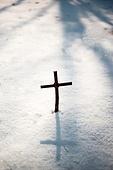 십자가,부활절,고난주간,사순절,나무십자가,설경,눈
