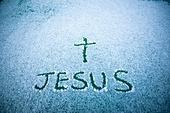 십자가,부활절,고난주간,사순절,JESUS,예수,이름,설경,눈