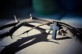 십자가,부활절,고난주간,사순절,가시면류관,면류관,고통,고난,나무십자가