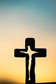 십자가,부활절,고난주간,사순절,석양,노을,구름,하늘,실루엣