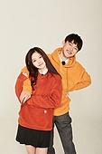 한국인, 학생, 고등학생, 후드티셔츠 (운동복), 미소, 여성, 여학생, 커플, 친구
