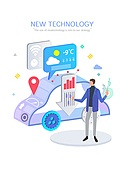 기술, 4차산업혁명 (산업혁명), 신기술, 발전 (컨셉), 연구 (주제), 자동차, 사물인터넷, 무인자동차 (자동차)