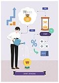지출 (컨셉), 소비, 라이프스타일, 지성 (컨셉), 화살표, 저축, 백분율기호 (수학기호)