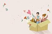 가족, 봄, 라이프스타일, 꽃, 행복, 부모, 어린이 (인간의나이), 카네이션, 어버이날 (홀리데이)