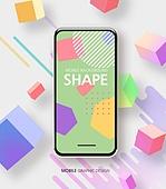 휴대폰 (전화기), 모바일결제 (금융아이템), 기프트카드 (선물), 백그라운드, 컬러 (Image Type), 패턴