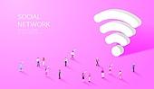 라이프스타일, 사람, 미니어쳐 (공예품), SNS (기술), 와이파이, 커뮤니케이션 (주제)