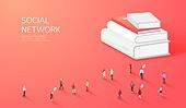 라이프스타일, 사람, 미니어쳐 (공예품), SNS (기술), 책