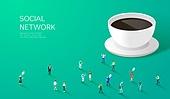 라이프스타일, 사람, 미니어쳐 (공예품), SNS (기술), 커피 (뜨거운음료)