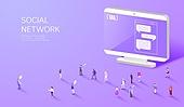 라이프스타일, 사람, 미니어쳐 (공예품), SNS (기술), 컴퓨터모니터 (개인용컴퓨터), 채팅