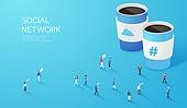 라이프스타일, 사람, 미니어쳐 (공예품), SNS (기술), 커피 (뜨거운음료), 테이크아웃, SNS