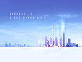 도시, 스마트시티, 4차산업혁명 (산업혁명), 블록체인, 미래주의, 눈부신빛 (발광), 고층빌딩 (회사건물), 기술, 컴퓨터네트워크 (컴퓨터장비), 비즈니스, 연결 (컨셉), 백그라운드