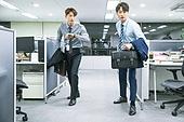 한국인, 사무실 (업무현장), 출퇴근 (여행하기), 준비 (컨셉)