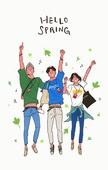 라이프스타일, 소풍, 음악축제 (엔터테인먼트이벤트), 소풍 (아웃도어), 즐거움 (컨셉), 청년 (성인), 점프, 친구