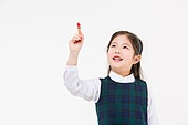 한국인, 어린이 (인간의나이), 초등학생, 신입생, 글씨쓰기 (움직이는활동), 드로잉하기 (움직이는활동), 상상력 (컨셉), 미소