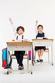 한국인, 어린이 (인간의나이), 초등학생, 학생, 수업중 (교육), 공부 (움직이는활동)