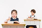 한국인, 어린이 (인간의나이), 초등학생, 학생, 수업중 (교육), 공부 (움직이는활동), 미소, 넘버원