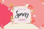 활짝 핀 꽃, 봄 관련 이벤트 소스