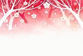 백그라운드, 수채화 (회화기법), 번짐, 봄, 벚꽃, 꽃잎