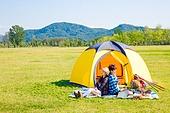 커플 (인간관계), 여유로운주말 (레저활동), 휴가, 여행, 캠핑