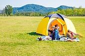 커플 (인간관계), 여유로운주말 (레저활동), 휴가, 여행, 캠핑, 미소