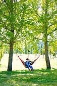 캠핑 (아웃도어), 나무, 들판, 해먹, 여유로운주말, 커플 (인간관계)