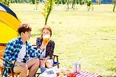 커플 (인간관계), 여유로운주말 (레저활동), 휴가, 여행, 캠핑, 맥주, 건배