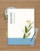 일러스트, 탑앵글 (뷰포인트), 책표지 (주제), 우편엽서 (편지), 포장 (인조물건), 자연 (주제), 소품 (구도), 봄, 꽃, 식물, 레이아웃, 카피스페이스, 팝업