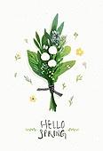 수채화 (회화기법), 봄, 꽃, 캘리그래피 (문자), 손글씨