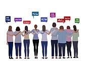 여성, 캠페인, 성폭력, 분노, 해시태그, 시위 (사건), 뒷모습
