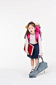 한국인, 초등학생, 책가방, 피로 (물체묘사), 기진맥진 (컨셉)