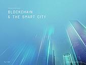 파워포인트, 메인페이지, 비즈니스, 스마트시티, 도시, 4차산업혁명, 블록체인, 미래주의, 네트워크