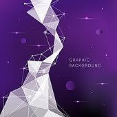 일러스트, 벡터파일 (일러스트), 백그라운드, 우주 (자연현상), 울트라바이올렛, 로우폴리 (물체묘사), 그래픽이미지 (Computer Graphics)