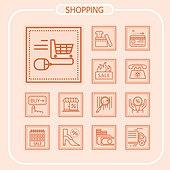 아이콘, 아이콘세트 (아이콘), 픽토그램, 라인아이콘, 쇼핑, 세일 (사건), 상업이벤트 (사건), 모바일결제, 쇼핑몰, 비트코인, 가상화폐, 배달 (일)