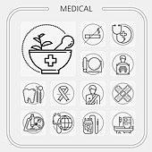 의료 라인 아이콘