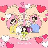 벡터파일 (일러스트), 가족, 사랑 (컨셉), 행복, 부모, 자식 (가족), 가정의달