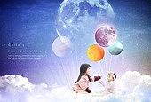교육 (주제), 어린이 (인간의나이), 환상 (컨셉), 상상력 (컨셉), 우주 (자연현상)