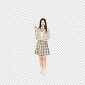 파워포인트 (이미지), PNG, 누끼, 한국인, 십대 (인간의나이), 고등학생, 학생, 교복, 여학생