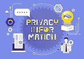 비즈니스, 기술, 4차산업혁명 (산업혁명), 타이포, 개인정보 (보안), 보안 (컨셉), 노트북, 말풍선