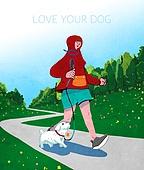 라이프스타일, 독신 (역할), 싱글라이프 (주제), 애완동물 (길든동물), 공원, 걷기 (신체활동), 조깅 (운동), 강아지