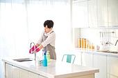 가사, 주방, 전업남편 (고정관념), 깨끗함 (좋은상태), 세제