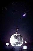 우주 (자연현상), 환상 (컨셉), 백그라운드, 달 (하늘)