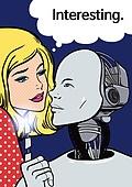 4차산업혁명 (산업혁명), 인공지능, 팝아트, 기술, 발전 (컨셉), 말풍선