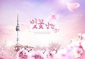 벚꽃, 여행, 봄, 꽃, 남산