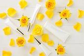 꽃, 화장품, 미용제품, 로션, 노랑색 (색상)