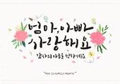 축하이벤트 (사건), 기념일, 5월, 가정의달 (홀리데이), 카네이션, 꽃, 캘리그래피 (문자), 어버이날 (홀리데이), 사랑 (컨셉), 부모