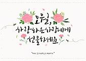 축하이벤트 (사건), 기념일, 5월, 가정의달 (홀리데이), 카네이션, 꽃, 캘리그래피 (문자), 어버이날 (홀리데이), 스승의날, 사랑 (컨셉), 꿀벌