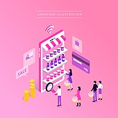 상업이벤트 (사건), 쇼핑, 세일 (사건), 아이소메트릭 (구도), 신용카드, 쇼핑 (상업활동)