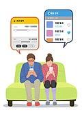 라이프스타일, 이사, 주택문제, 부부, 휴대폰 (전화기), 소파