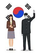 민주주의, 5.18, 민주화운동, 4.19혁명, 태극기, 교복